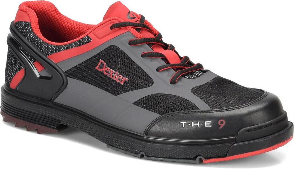 Dexter T.H.E. 9 HT Mens Bowling Shoes Black Red Grey
