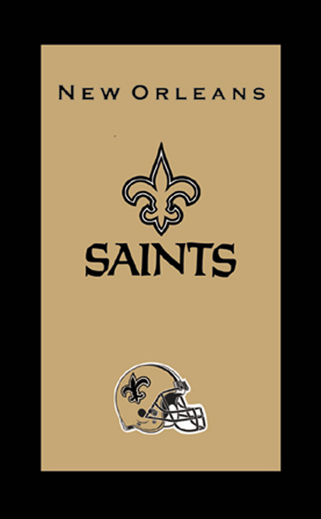 KR NFL Bowling Towel New Orleans Saints