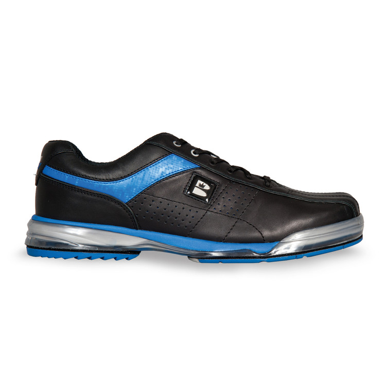 Brunswick TPU X Mens Bowling Shoes Black/Royal Right Hand Wide Width side view