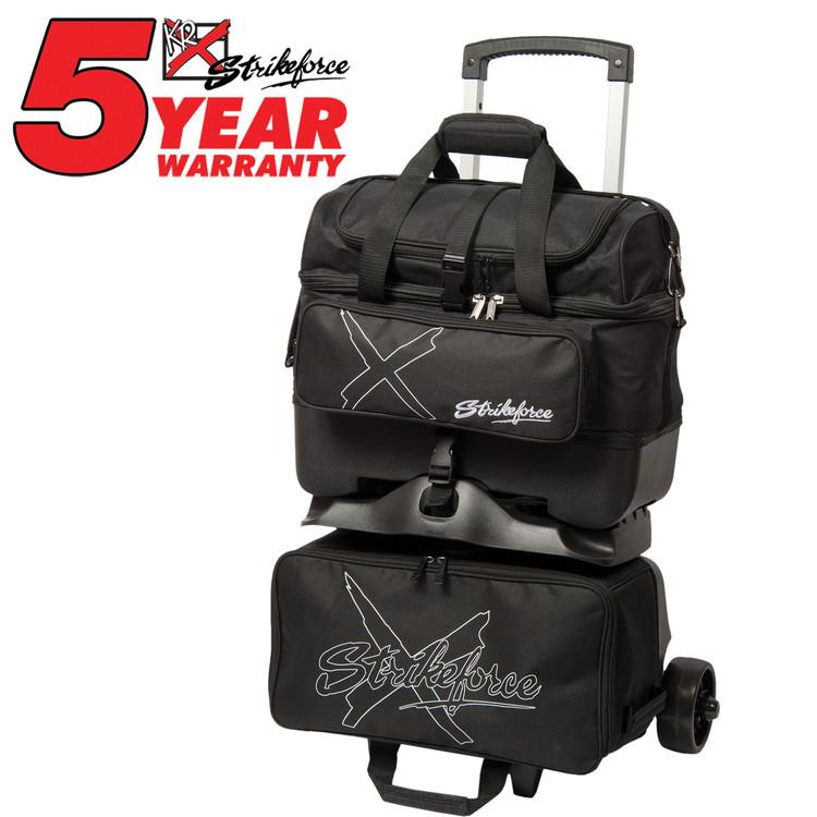 KR Hybrid X 4 Ball Roller Bowling Bag Black