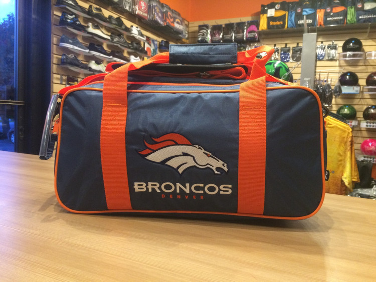 KR NFL 2 Ball Double Tote Bowling Bag Broncos