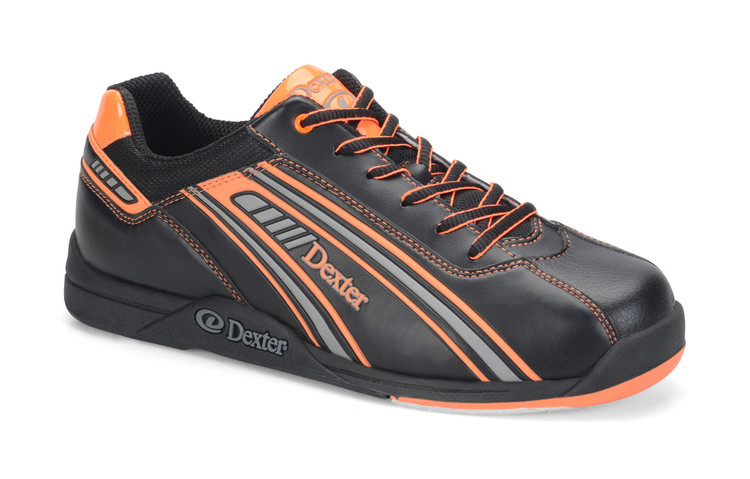 Dexter Keith Mens Bowling Shoes Black/Orange side view