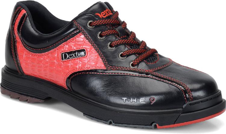 Dexter T.H.E. 9 Mens Bowling Shoes Black Red