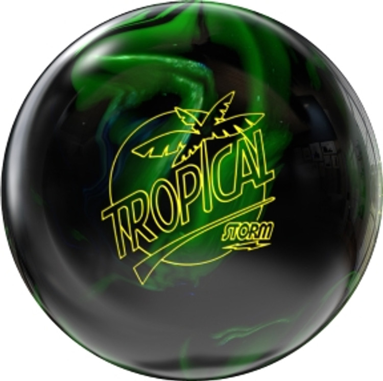 Storm Tropical Storm Lime Black Bowling Ball