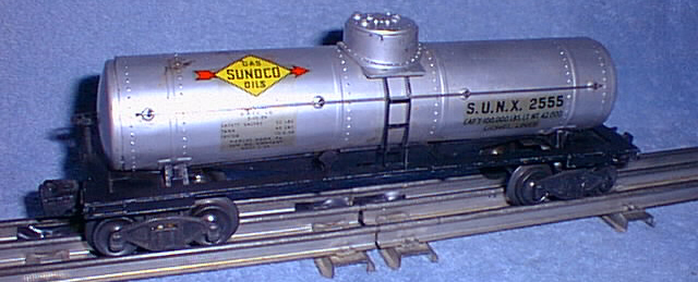 Freight Cars Tank Vat Cars 2555 Sunoco Tank Car Lionel