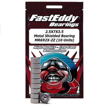2.5X7X3.5 Metal Shielded Bearing MR692X-ZZ (10 Units)