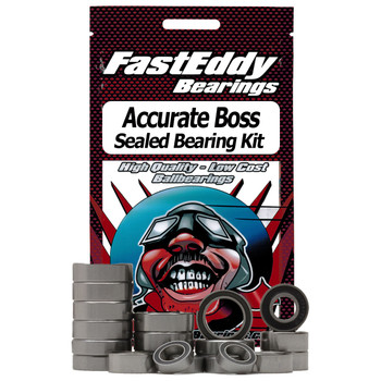 Accurate Boss Two Speed Spool Fishing Reel Rubber Sealed Bearing Kit