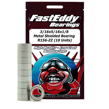 3/16x5/16x1/8 Metal Shielded Bearing R156-ZZ (10 Units)