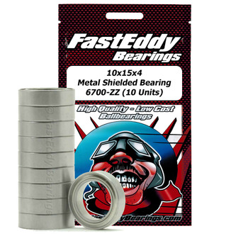 10x15x4 Metal Shielded Bearing 6700-ZZ (10 Units)