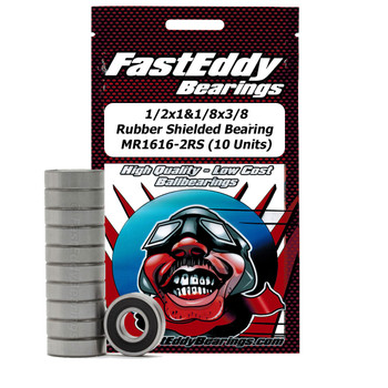 1/2x1-1/8x3/8 Rubber Sealed Bearing 1616-2RS (10 Units)