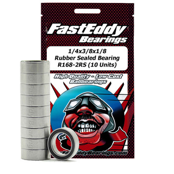 5/32x5/16x1/8 Rubber Sealed Bearing R155-2RS (10 Units)