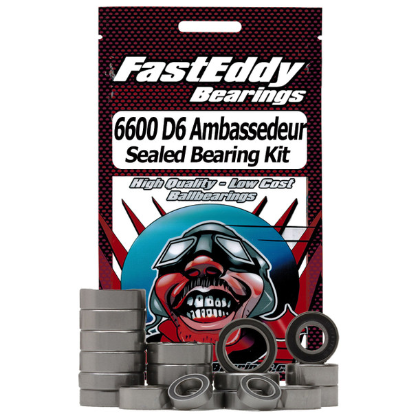 Abu Garcia 6600 D6 Ambassedeur-Custom Fishing Reel Rubber Sealed Bearing Kit