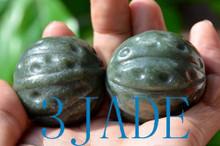 Nephrite Jade Walnut Balls / Sphere