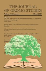 THE JOURNAL OF OROMO STUDIES, Volume 17, Number 1, 2010, Editor: Ezekiel Gebissa, Kettering University