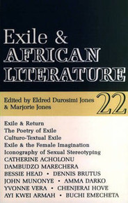 AFRICAN LITERATURE TODAY, Vol. 22, Exile and African Literature, Edited by Eldred Durosimi Jones & Marjorie Jones