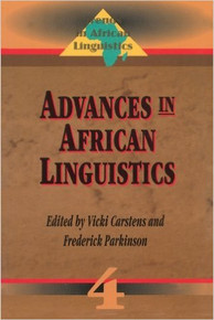 ADVANCES IN AFRICAN LINGUISTICS, Edited by Vicki Carstens and Frederick Parkinson( HARDCOVER)