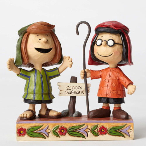 Marcie and Peppermint Patty Peanuts by Jim Shore 4052717