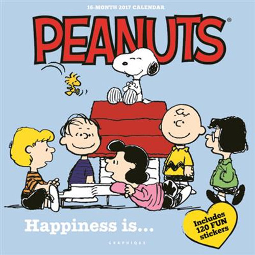2017 Peanuts Happiness Is... Wall Calendar