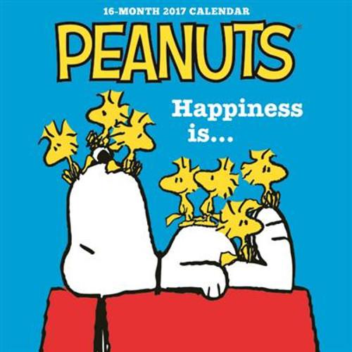 """PEANUTS HAPPINESS IS 7"""" X 7"""" MINI CALENDAR"""