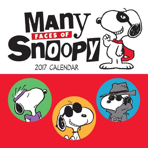 Many Faces of Snoopy Peanuts 2017 Mini Wall Calendar