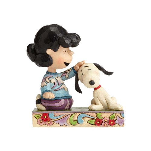 Lucy Petting Snoopy Angling For Attention Peanuts by Jim Shore