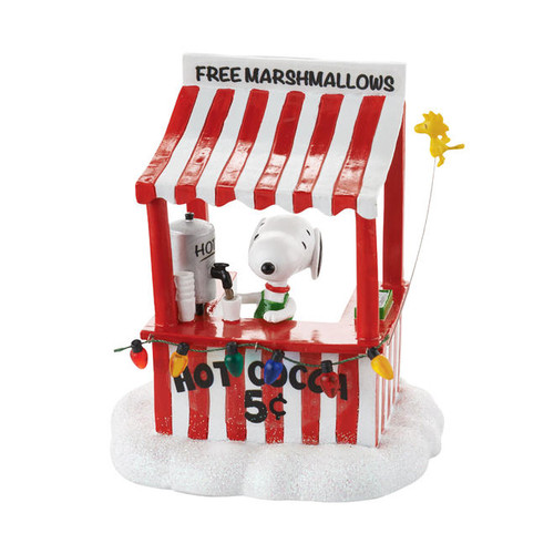 Snoopy's Cocoa Stand Peanuts Village Department 56