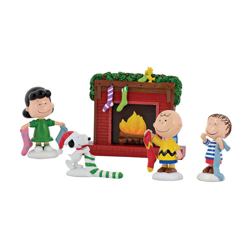 Christmas Stockings Were Hung Snoopy Woodstock Charlie Brown Lucy Linus