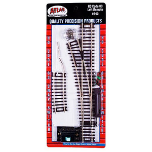 Atlas 0540 Code 83 Remote Snap Switch Left HO