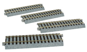 "Kato 2-140 4 7/8"" 123mm Straight Uni-Track HO 4-pack"