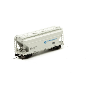 Athearn 12268 The PQ Corporation ACF 2970 2-bay Center Flow Hopper #232 N-scale
