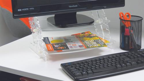 Crystal Spacetidy monitor/laptop/printer raiser