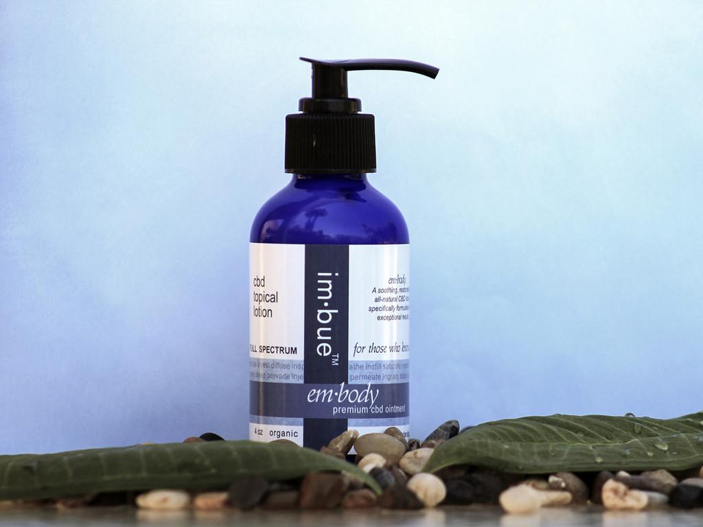 im·bue™ - em·body 200mg premium CBD lotion - 4 ounce bottle