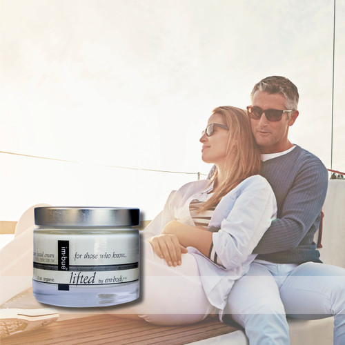 im·bue™ - lifted by em·body 200mg premium CBD facial cream - 2 ounce jar