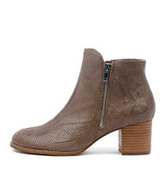 SERIL Ankle Boots in Grey Punched Leather