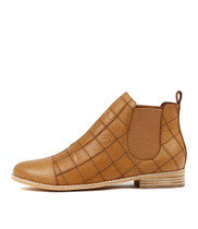ANCHO Ankle Boots in Tan Leather