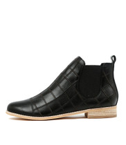 ANCHO Ankle Boots in Black Leather