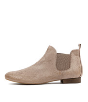 GLENVALIA Ankle Boots in Taupe Cut Leather