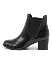 SADORE Ankle Boots in Black Patent Leather
