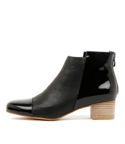 JARLIE Ankle Boots in Black Leather
