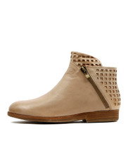 ASHA Ankle Boots in Latte Leather