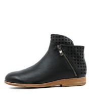 ASHA Ankle Boots in Black Leather