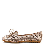 BANDI Ballet Flats in Rose Gold Leather