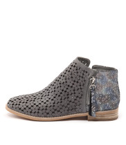 ALEX Ankle Boots in Blue Grey/ Multi Leather