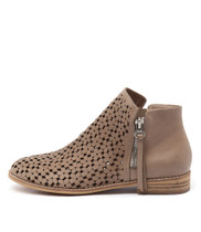 ALEX Ankle Boots in Dark Beige Leather