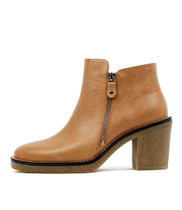 KATONE Ankle Boots in Tan Leather