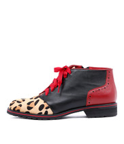 CARACUS Ankle Boots in Ocelot/ Multi Leather