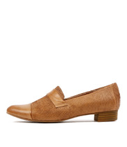 EBRON Loafers in Dark Tan Cut Leather