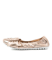 BACKUPS Ballet Flats in Rose Gold Leather