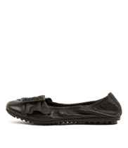 BACKUPS Ballet Flats in Black Leather