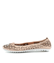 BACCARS Ballet Flats in Pale Pink Leather